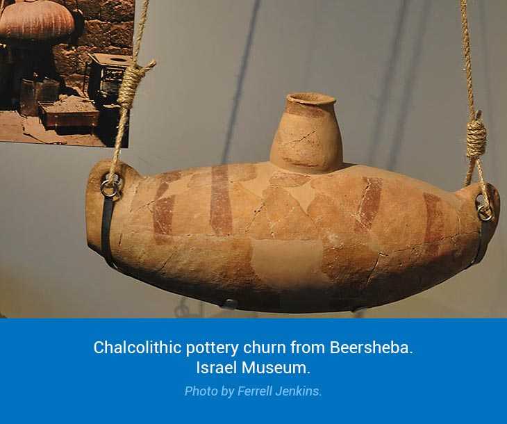 chalcolithic pottery churn