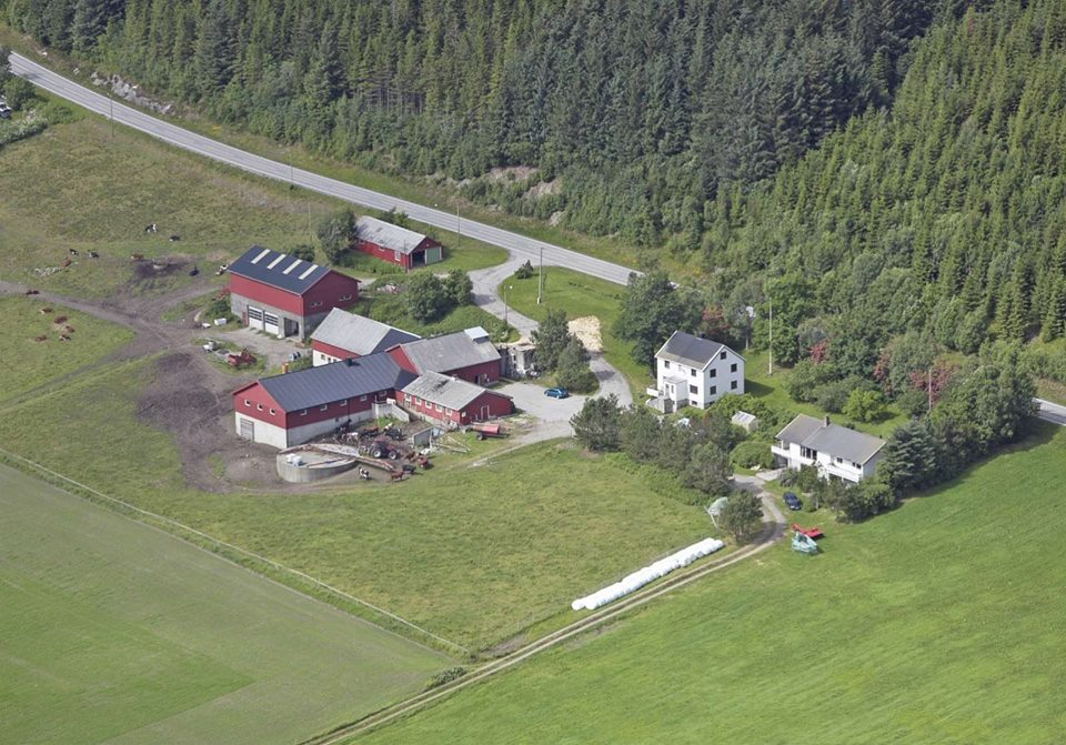 Litlvea Gård from the sky