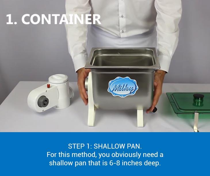 Shallow pan